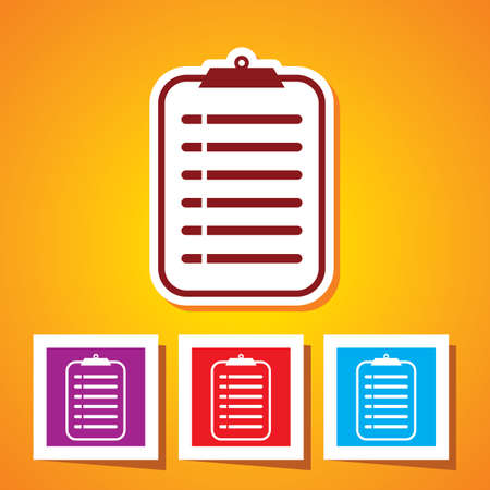 Colourful editable icon of medical record clipboard
