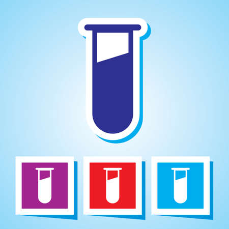 test tube babies: Colourful editable icon of IVF