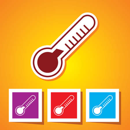 Colourful editable Thermometer icon Vector