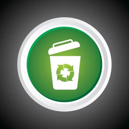 kompost: Ikone der Papierkorb M�lleimer auf Knopf