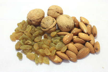 dry fruits: Mix Dry fruits Isolated on White Background Stock Photo