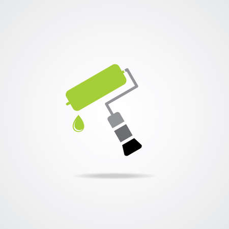 redecorate: Editable Colourful Icon of Paint Roller  Illustration