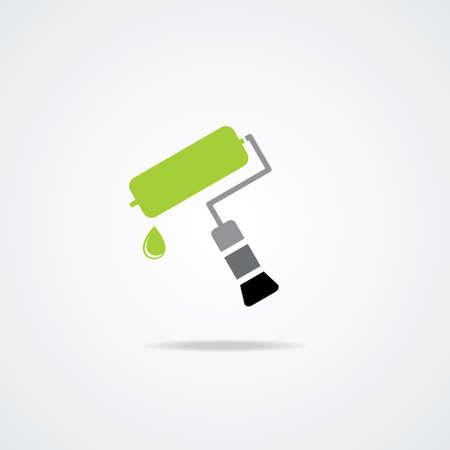 farbrolle: Editierbare bunte Icon von Paint Roller Illustration