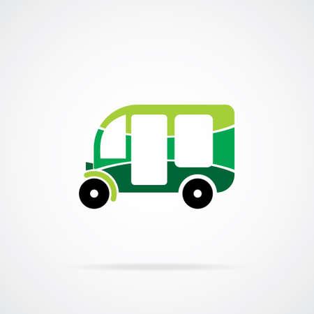 mototaxi: Three wheeled motor rickshaw  Vector