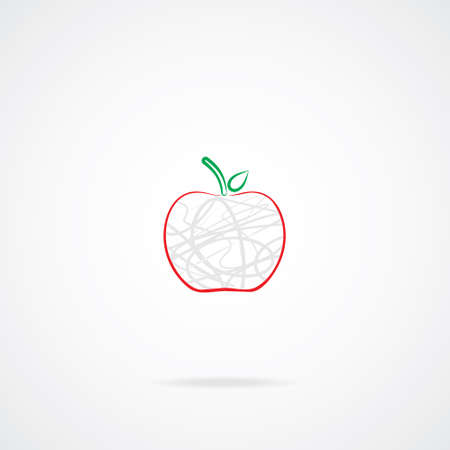 ripened: Apple Icon  EPS-10  Illustration