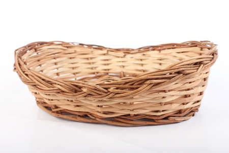 Handmade Empty Wooden Basket Banco de Imagens