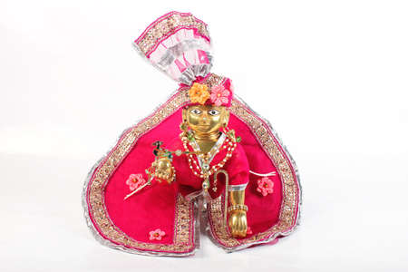 Sculpture of Lord Krishna  Laddu Gopal, Lalan photo