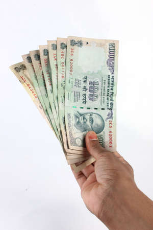 rupee: Indian Currency notes Stock Photo