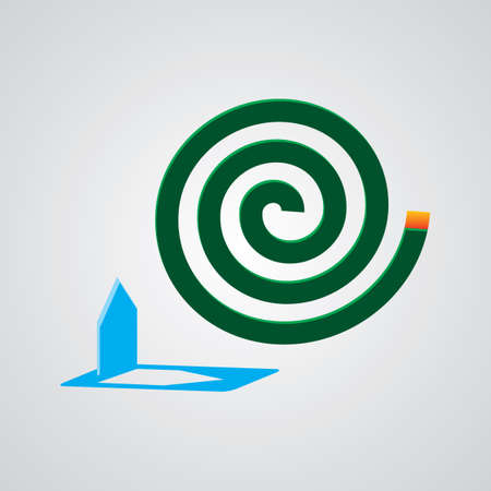 insect repellent: A green mosquito coil.