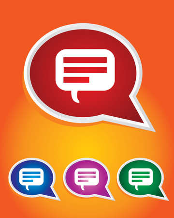 Editable Vector Icon of Speech Bubble On Speech Bubble Shape.  Vector