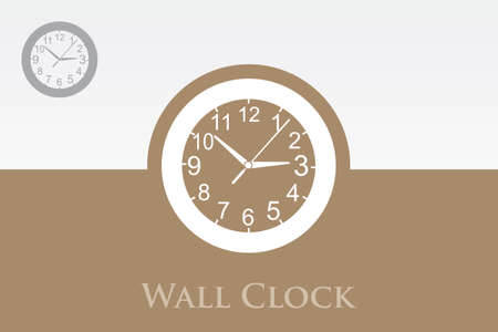time keeping: A wall clock in a modern design