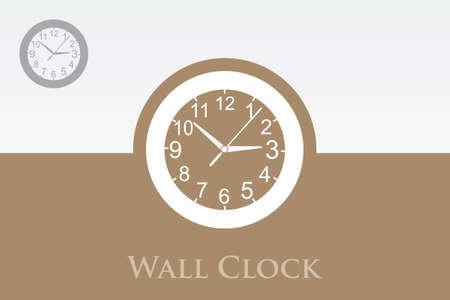 A wall clock in a modern design