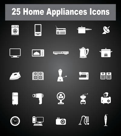 standby: 16 Home Appliances icons.