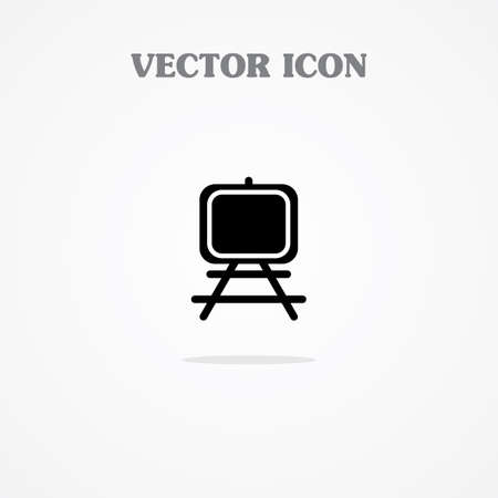 paper art projects: PAINTING STAND ICON