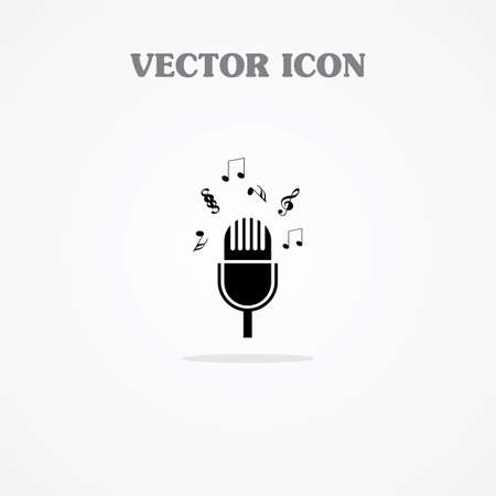 microphone web icon Illustration
