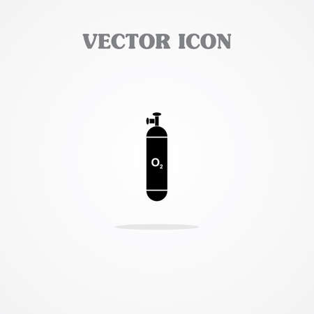 compressed gas: Oxygen Cylinder Illustration