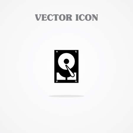harddisk: harddisk icon Illustration