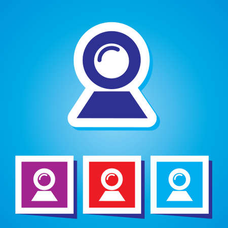 webcam: Webcam vector icon Illustration
