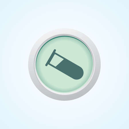 test tube babies: Testing Tube (IVF) On Button.