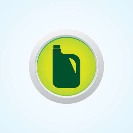 Icon of Oil Can on Button. Eps-10.