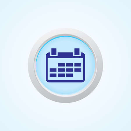 calender icon: Icon of Calender on Button. Eps-10