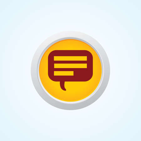 Icon of Comments on Button. Eps-10. Vector