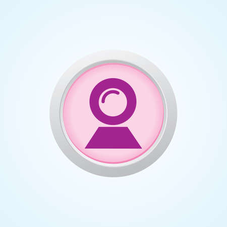 web cam: Icon of Web Cam on Button. Eps-10.