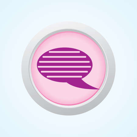 comments: Editable Vector Icon of Comments on Button. Eps-10. Illustration