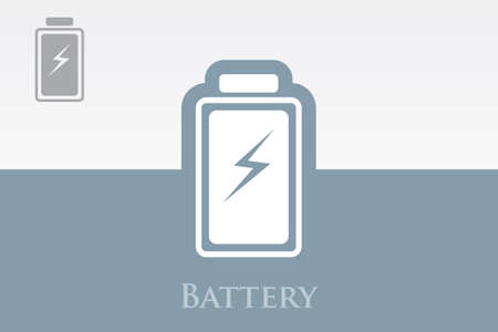 Icon of Battery on Colorful Background. Eps.-10. Vector