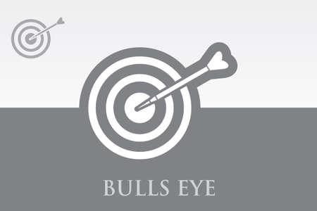 marksmanship: Icon of Bull Eye on Colorful Background. Eps.-10.