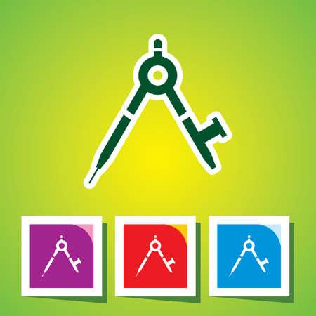 compas de dibujo: editable vector icono de br�jula de Giro