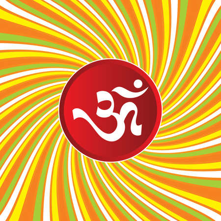 shree: AUM Om Sign On Abstract Background