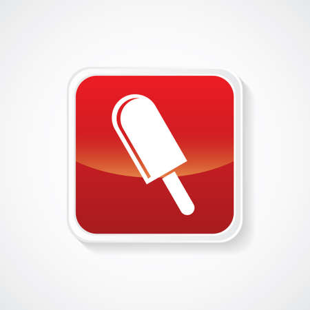 candy bar: Candy Bar Icon on Red Glossy Button. Eps.-10