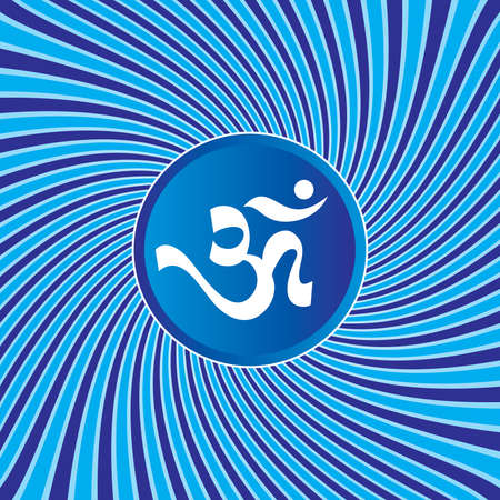 3d om: AUM Om Sign On Abstract Background