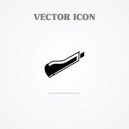 box cutter: Icono cortador de papel