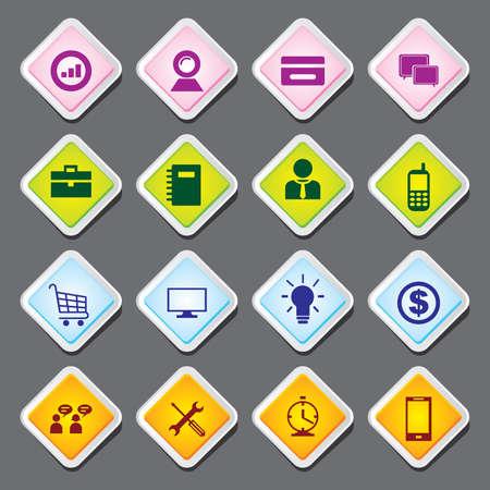 Useful Editable Icons For Web and Mobile. EPS-10 Vector