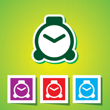 metering: Colourful icon of Clock