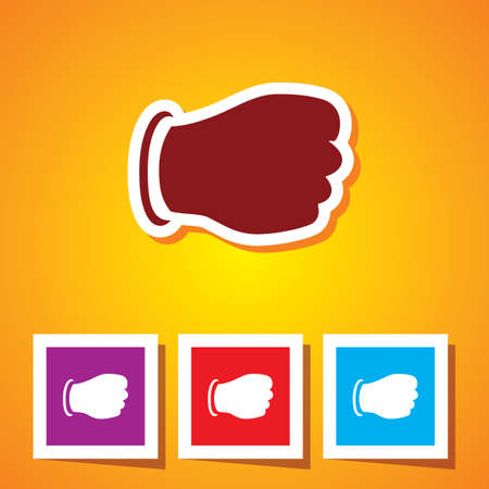 Colourful Icon of Punch Vector