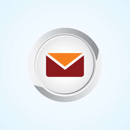 Icon of Message on Button. Eps-10. Vector