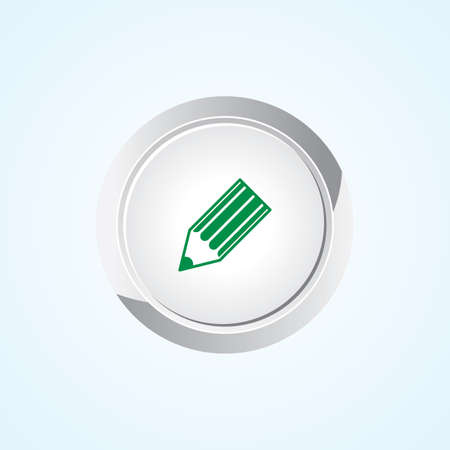 Icon of Write on Button. Eps-10. Vector
