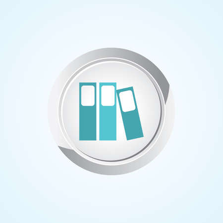 stack of files: Icon of Folders on Button. Eps-10.