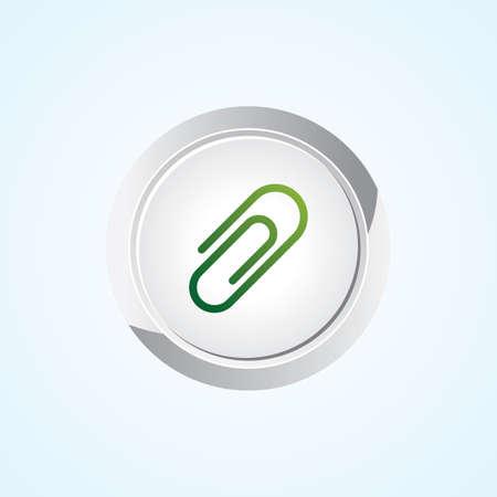 attachment: Icon of Attachment on Button. Eps-10.