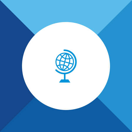 globe  the terrestrial ball: Globe icon  on blue color background