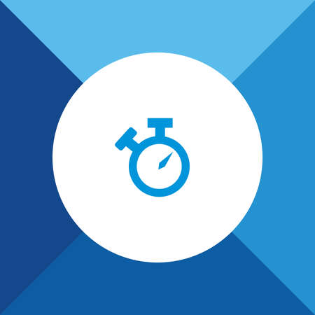stop watch: Stop watch icon  on blue color background