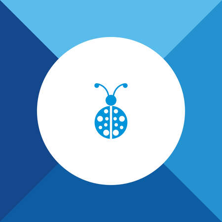 lady bug: Lady bug icon  on blue color background Illustration