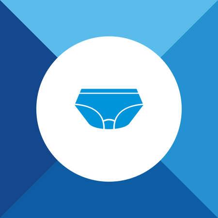 underside: Underwear icon on blue color background