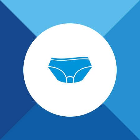 warmer: Underwear icon on blue color background