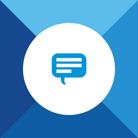 comment: Comment Icon on Blue Background.