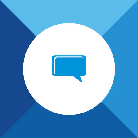 comments: Comments Icon on Blue Background. Illustration