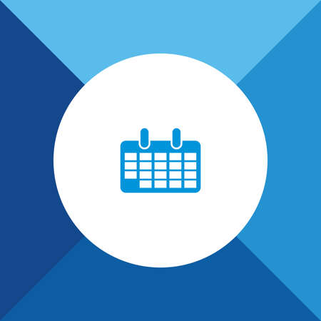 calender icon: Calender Icon on Blue Background.